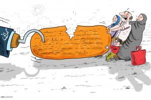 کاریکاتور: نان گران شد!